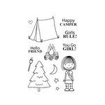 SRM Press - Jane's Doodles Stamp - Happy Camper