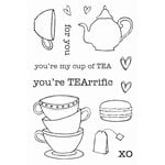SRM Press - Jane's Doodles Stamp - Tea Time
