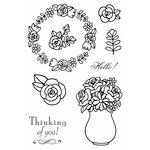 SRM Press - Jane's Doodles Stamp - Floral Hello