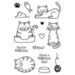 SRM Press - Jane's Doodles Stamp - A Cat's Life