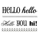 SRM Press - Clear Acrylic Stamps - Big Hello