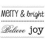 SRM Press - Clear Acrylic Stamps - Big Merry