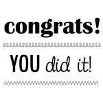 SRM Press - Clear Acrylic Stamps - Big Congrats