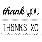 SRM Press - Clear Acrylic Stamps - Big Thank You