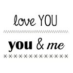 SRM Press - Clear Acrylic Stamps - Big Love You