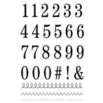 SRM Press - Clear Acrylic Stamps - Big Numbers