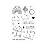 SRM Press - Jane's Doodles Stamp - Rain or Shine