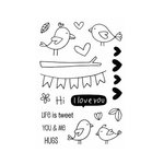 SRM Press - Jane's Doodles Stamp - Love Birds
