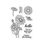 SRM Press - Jane's Doodles Stamp - Daisies