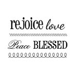 SRM Press - Clear Acrylic Stamps - BIG Faith