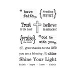SRM Press - Clear Acrylic Stamps - Words of Faith