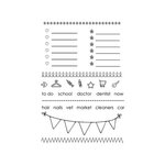 SRM Press - Clear Acrylic Stamps - Planner Banner