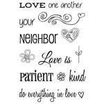 SRM Press - Faith - Clear Acrylic Stamps - Love One Another