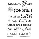 SRM Press - Faith - Clear Acrylic Stamps - Amazing Grace