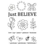 SRM Press - Faith - Clear Acrylic Stamps - Just Believe