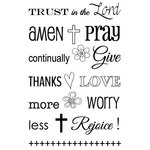 SRM Press - Faith - Clear Acrylic Stamps - Trust in the Lord