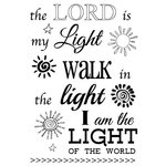 SRM Press - Faith - Clear Acrylic Stamps - The Lord is My Light