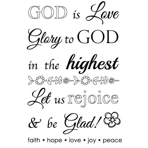 SRM Press - Faith - Clear Acrylic Stamps - God is Love