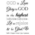 SRM Press - Faith - Clear Acrylic Stamps - God is Love