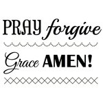 SRM Press - Faith - Clear Acrylic Stamps - Big Amen