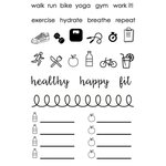 SRM Press - Planner - Clear Acrylic Stamps - Healthy Plans
