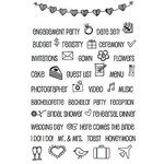 SRM Press - Planner Collection - Clear Acrylic Stamps - Wedding Plans