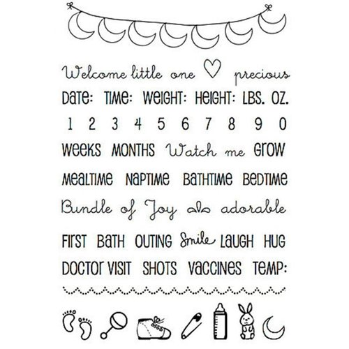 SRM Press - Planner Collection - Clear Acrylic Stamps - Baby Plans