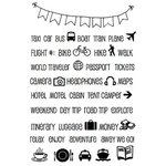 SRM Press - Planner Collection - Clear Acrylic Stamps - Travel Plans