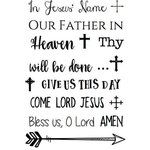 SRM Press - Clear Acrylic Stamps - In Jesus' Name