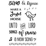 SRM Press - Clear Acrylic Stamps - Sing and Rejoice
