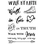 SRM Press - Clear Acrylic Stamps - Walk by Faith