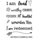 SRM Press - Clear Acrylic Stamps - I Am