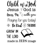 SRM Press - Clear Acrylic Stamps - Child of God