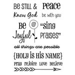 SRM Press - Clear Acrylic Stamps - Words of Faith 2