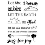 SRM Press - Clear Acrylic Stamps - Heaven and Earth