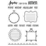 SRM Press - Clear Acrylic Stamps - Amen Frames