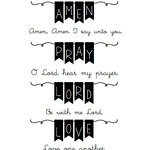 SRM Press - Clear Acrylic Stamps - Bible Banners