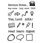 SRM Press - Clear Acrylic Stamps - Sermon Notes