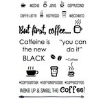 SRM Press - Clear Acrylic Stamps - Coffee Plans