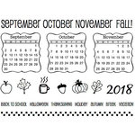 SRM Press - Clear Acrylic Stamps - Fall Plans - 2018
