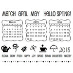 SRM Press - Clear Acrylic Stamps - Spring Plans - 2018