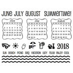 SRM Press - Clear Acrylic Stamps - Summer Plans - 2018