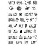 SRM Press - Clear Acrylic Stamps - Seasonal Plans