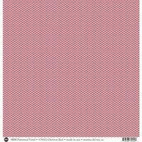 SRM Press - 12 x 12 Patterned Vinyl - Matte - Chevron - Red