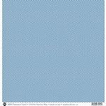 SRM Press - 12 x 12 Patterned Vinyl - Matte - Chevron - Blue