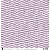 SRM Press - 12 x 12 Patterned Vinyl - Matte - Chevron - Purple