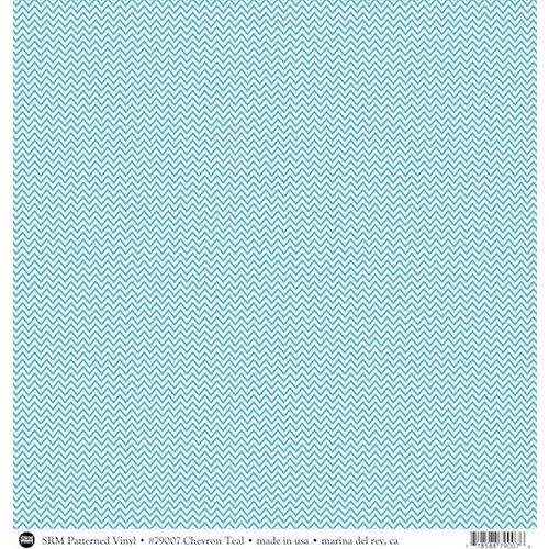 SRM Press - 12 x 12 Patterned Vinyl - Matte - Chevron - Turquoise
