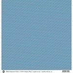 SRM Press - 12 x 12 Patterned Vinyl - Matte - Stripes - Blue