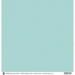 SRM Press - 12 x 12 Patterned Vinyl - Matte - Stripes - Turquoise