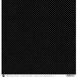 SRM Press - 12 x 12 Patterned Vinyl - Matte - Dots - Black